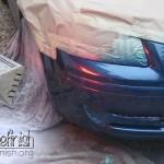 Audi Bumper Scratch in Clapham-Curing