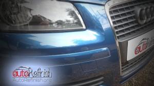 Audi Bumper Scratch in Clapham-After